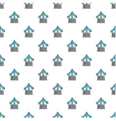 Robotic arm pattern seamless vector