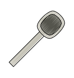 spoon cutlery utensil vector image