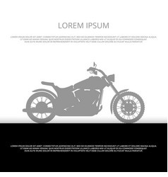 sport motorbike silhouette poster design - vector image