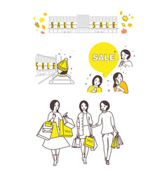 The period of sales shopping vector