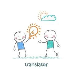 Translator gives an idea man vector