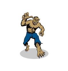 Werewolf monster running vector