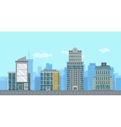 Urban flat cityscape vector image