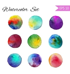 Set watercolor-style spot vector