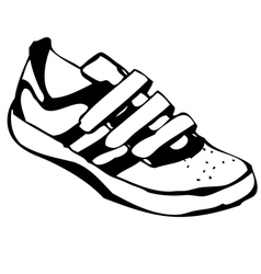 Cartoon sneakers shoe vector
