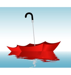Umbrella on the water vector