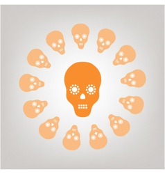 Skull isolated on the background vector