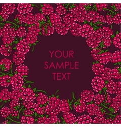 Frame of raspberries vector