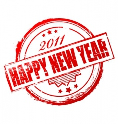 New year 2011 stamp vector