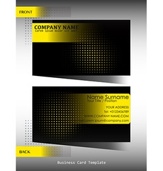 A black and yellow business card vector image