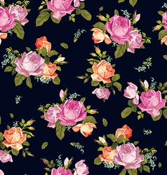 Abstract seamless floral pattern with pink and vector image