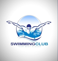 Swimming design logo vector