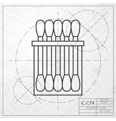 Cotton swabs vector