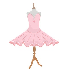 Ballet dress on mannequin vector