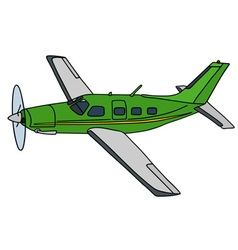 Green propeller airplane vector image