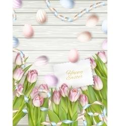 Easter eggs card eps 10 vector