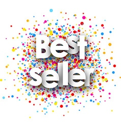 Best seller paper card vector