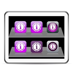 Information purple app icons vector