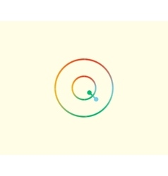 Abstract letter Q logo design template Colorful vector image