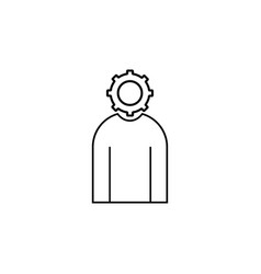 administrator simple linear icon vector image