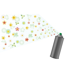 Aerosol and flowers vector
