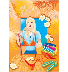 Beautiful blondy girl vector
