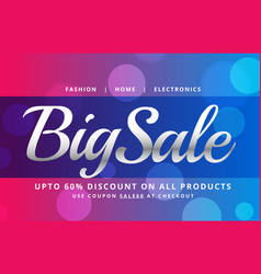 Beautiful sale banner poster design template with vector