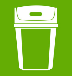 Big trashcan icon green vector