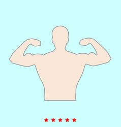 bodybuilder it is color icon vector image