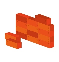 brick wall construction icon vector image