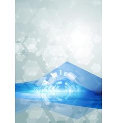 Bright abstract hi-tech vector image vector image