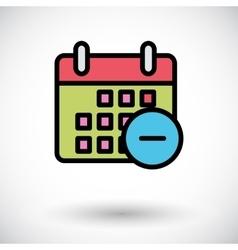 Calendar with minus vector