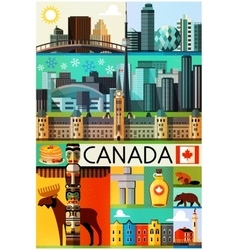 Canada travel collection vector
