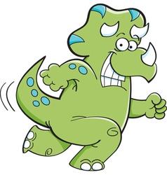 Cartoon Triceratops Running vector image