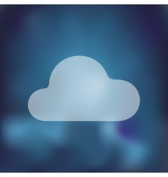 Cloud icon on blurred background vector