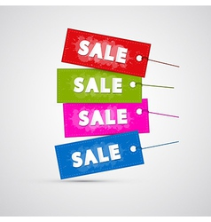 Colorful Sale Labels Tags vector image