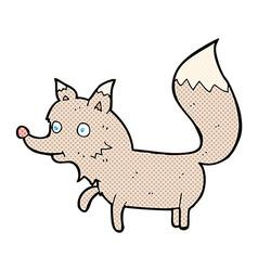 Comic cartoon wolf cub vector