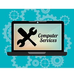 computer service vector image