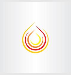 fire clip art flame icon logo symbol vector image vector image
