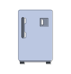 fridge kitchen appliance vector image