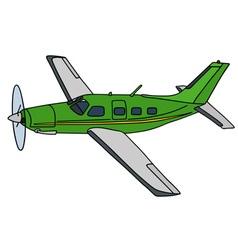 Green propeller airplane vector image vector image