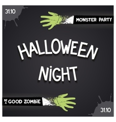 Halloween night party vector
