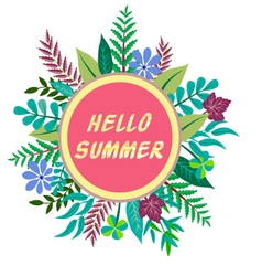 Hello summer background vector