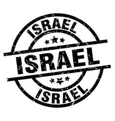 Israel black round grunge stamp vector