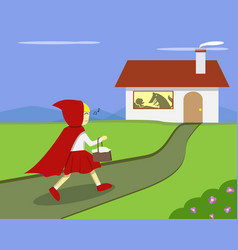 little red riding hood go to grandmas house vector image vector image