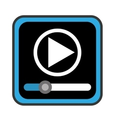 media player control panel icon vector image