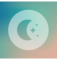 Moon and stars transparent icon weather vector
