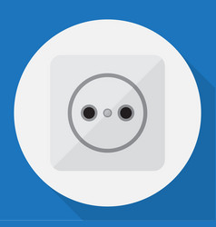 Of electric symbol on socket vector