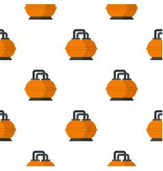 Orange fuel storage tank pattern seamless vector