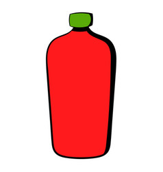 Red cosmetic bottle icon icon cartoon vector